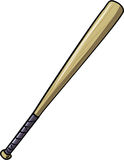 Illustration of baseball bat Stock Image