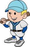 Illustration baseball player Stock Photos