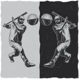 Illustration of baseball player Royalty Free Stock Photos