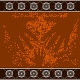 A illustration based on aboriginal style of dot pa Royalty Free Stock Photo