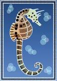 A illustration based on aboriginal style of dot pa royalty free illustration