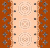 An illustration based on aboriginal style of dot painting depict. Ing a pattern Royalty Free Stock Images