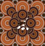 A illustration based on aboriginal style of dot painting depicti. Ng snake Stock Photo