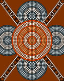 A illustration based on aboriginal style of dot painting depicti. Ng circle background 2 Royalty Free Stock Photo