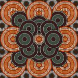 A illustration based on aboriginal style of dot painting depicti. Ng circle background 4 Stock Photo