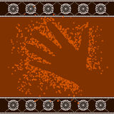 A illustration based on aboriginal style of dot painting depicti. Ng hand stock illustration