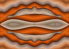 A illustration based on aboriginal style of dot painting depicti. Ng illusion stock illustration