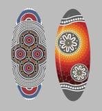 Aboriginal shield Vector art. Stock Photo