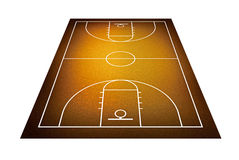 Illustration of basketball court. Stock Image