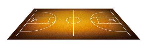 Illustration of basketball court. Royalty Free Stock Images