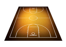 Illustration of basketball court. Royalty Free Stock Photos