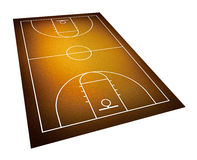 Illustration of basketball court. Stock Images