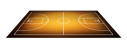 Illustration of basketball court. Stock Photo