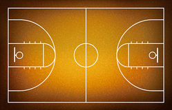 Illustration of basketball court. Royalty Free Stock Image
