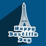 Illustration of bastille day background Royalty Free Stock Image