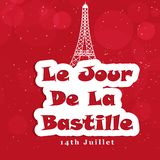 Illustration of bastille day background Royalty Free Stock Photography