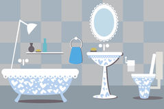 Illustration of bathroom Royalty Free Stock Images
