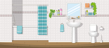 Illustration of a bathroom Stock Image
