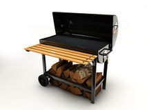 Illustration of BBQ Grill on white background. 3d Illustration of BBQ Grill on white background Stock Photography
