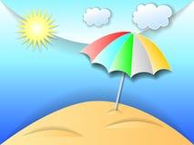 Illustration of beach Stock Photography