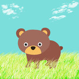 Illustration of a bear in the woods Stock Photo