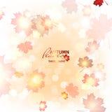 Illustration beautiful autumn background. Illustration of fuzzy soft warm autumn background Stock Photography