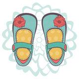 Illustration of beautiful baby girl shoes Royalty Free Stock Image