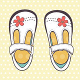 Illustration of beautiful baby girl shoes Royalty Free Stock Photography