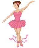 Illustration of beautiful ballerina Stock Photo