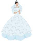 Illustration of a beautiful bride Stock Photos