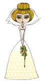 Illustration of beautiful bride Stock Photo