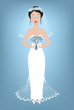 Illustration of a beautiful bride Royalty Free Stock Photo