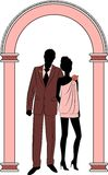 Illustration of beautiful bride and groom Stock Photo