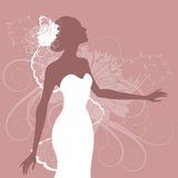 Illustration of a beautiful bride Stock Photo