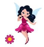 Illustration of a beautiful burgundy fairy Stock Photos
