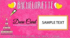 The bachelorette card. Illustration - beautiful card for a fun bachelorette party vector illustration