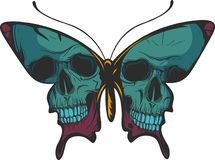 Illustration of a beautiful colorful butterfly that flies stock images