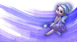 Illustration of a beautiful fairy girl Royalty Free Stock Photos