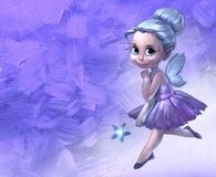 Illustration of a beautiful fairy girl Royalty Free Stock Photography