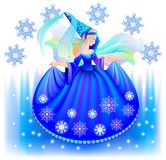 Illustration of beautiful fairy in winter. Royalty Free Stock Images