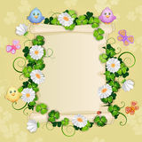 Illustration with beautiful flowers. Royalty Free Stock Images