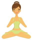 Yoga girl Stock Photo