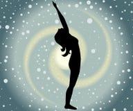Raised arms pose. Illustration with a beautiful girl on a yoga theme - hasta utthanasana pose Royalty Free Stock Image