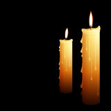 Illustration of beautiful glowing candles Stock Photography