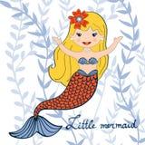 Illustration of a beautiful little mermaid Stock Photo