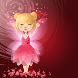 Illustration of beautiful love fairy. With hearts Royalty Free Stock Image
