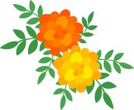 The illustration of flower Stock Photography
