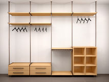 Illustration of beautiful modern blank wardrobe Royalty Free Stock Photos