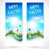 Beautiful nature background with easter egg royalty free illustration