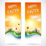 Beautiful nature background with easter egg stock illustration